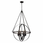 ELK Hemispheres  Collection 6 Light Pendant in Oil Rubbed Bronze EK-10393-6