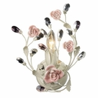 ELK Heritage 1-Light Sconce in Cream and Porcelain Roses EK-18093-1