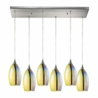 ELK Horizon 6 Light Pendant in Satin Nickel EK-31495-6RC