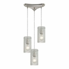 ELK Ice Fragments 3 Light Pendant in Satin Nickel EK-10242-3CL