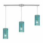 ELK Ice Fragments 3 Light Pendant in Satin Nickel EK-10242-3L-AQ