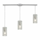 ELK Ice Fragments 3 Light Pendant in Satin Nickel EK-10242-3L-CL