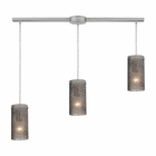 ELK Ice Fragments 3 Light Pendant in Satin Nickel EK-10242-3L-SM