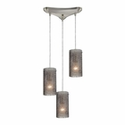 ELK Ice Fragments 3 Light Pendant in Satin Nickel EK-10242-3SM