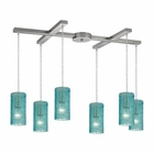 ELK Ice Fragments 6 Light Pendant in Satin Nickel EK-10242-6AQ