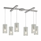 ELK Ice Fragments 6 Light Pendant in Satin Nickel EK-10242-6CL