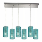 ELK Ice Fragments 6 Light Pendant in Satin Nickel EK-10242-6RC-AQ