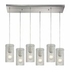 ELK Ice Fragments 6 Light Pendant in Satin Nickel EK-10242-6RC-CL