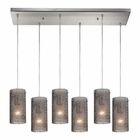 ELK Ice Fragments 6 Light Pendant in Satin Nickel EK-10242-6RC-SM