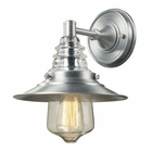 ELK insulator Glass  1 Light Outdoor Sconce in Brushed Aluminum EK-66700-1