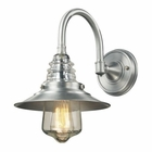 ELK insulator Glass  1 Light Outdoor Sconce in Brushed Aluminum EK-66702-1