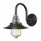 ELK insulator Glass  1 Light Sconce in Oiled Bronze EK-66812-1