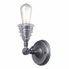 ELK insulator Glass  1 Light Sconce in Weathered Zinc EK-66820-1