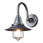 ELK insulator Glass  1 Light Sconce in Weathered Zinc EK-66822-1