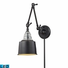 ELK insulator Glass  1 Light Swingarm Sconce in - Led EK-66815-1-LED