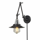 ELK insulator Glass  1 Light Swingarm Sconce in Oiled Bronze EK-66816-1