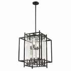 ELK Intersections Collection 4+4 Light Pendant in Oil Rubbed Bronze EK-14205-4-4