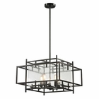 ELK Intersections Collection 5 Light Pendant in Oil Rubbed Bronze EK-14203-5