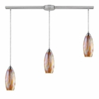 ELK Iridescence 3-Light Golden Pendant in Satin Nickel EK-10076-3L-GI