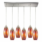 ELK Iridescence 6 Light Pendant in Satin Nickel EK-10076-6RC-GI