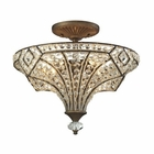 ELK Jausten 4 Light Semi Flush in Antique Bronze EK-11781-4
