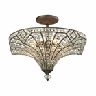 ELK Jausten 5 Light Semi Flush in Antique Bronze EK-11782-5