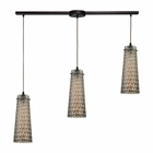 ELK Jerard 3 Light Pendant in Oil Rubbed Bronze EK-10248-3L