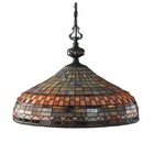 ELK Jewelstone 3-Light Pendant in Classic Bronze EK-611-CB
