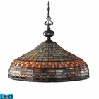 ELK Jewelstone 3-Light Pendant in Classic Bronze - Led EK-611-CB-LED