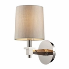 ELK Jorgenson 1 Light Sconce in Taupe Wood and Polished Nickel EK-31330-1