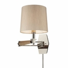 ELK Jorgenson 1 Light Swingarm Sconce in Taupe Wood and Polished Nickel EK-31332-1