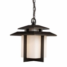ELK Kanso 1 Light Outdoor Pendant in Hazelnut Bronze EK-42172-1