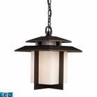 ELK Kanso 1 Light Outdoor Pendant in Hazelnut Bronze - Led EK-42172-1-LED