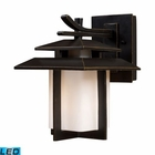 ELK Kanso 1 Light Outdoor Sconce in Hazelnut Bronze - Led EK-42170-1-LED