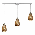 ELK Karma 3 Light Pendant in Satin Nickel EK-10254-3L