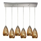 ELK Karma 6 Light Pendant in Satin Nickel EK-10254-6RC