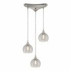 ELK Kersey 3 Light Pendant in Satin Nickel EK-10455-3