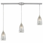 ELK Kersey 3 Light Pendant in Satin Nickel EK-10458-3L