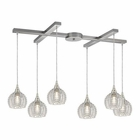 ELK Kersey 6 Light Pendant in Satin Nickel EK-10455-6