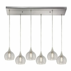 ELK Kersey 6 Light Pendant in Satin Nickel EK-10455-6RC