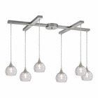 ELK Kersey 6 Light Pendant in Satin Nickel EK-10456-6