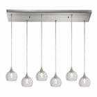 ELK Kersey 6 Light Pendant in Satin Nickel EK-10456-6RC
