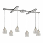 ELK Kersey 6 Light Pendant in Satin Nickel EK-10457-6