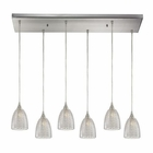 ELK Kersey 6 Light Pendant in Satin Nickel EK-10457-6RC