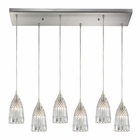 ELK Kersey 6 Light Pendant in Satin Nickel EK-10458-6RC