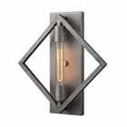 ELK Laboratory 1 Light Sconce in Weathered Zinc With Bulb included EK-66891-1B