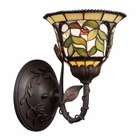 ELK Latham 1-Light Sconce in Tiffany Bronze W/ Highlight EK-08014-TBH