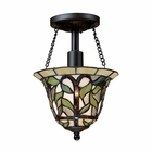 ELK Latham 1-Light Semi-Flush in Tiffany Bronze EK-70114-1