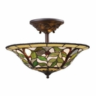 ELK Latham 3-Light Semi Flush in Tiffany Bronze W/ Highlight EK-08015-TBH