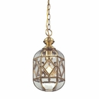 ELK Lavery 1 Light Pendant in Brushed Brass EK-22025-1